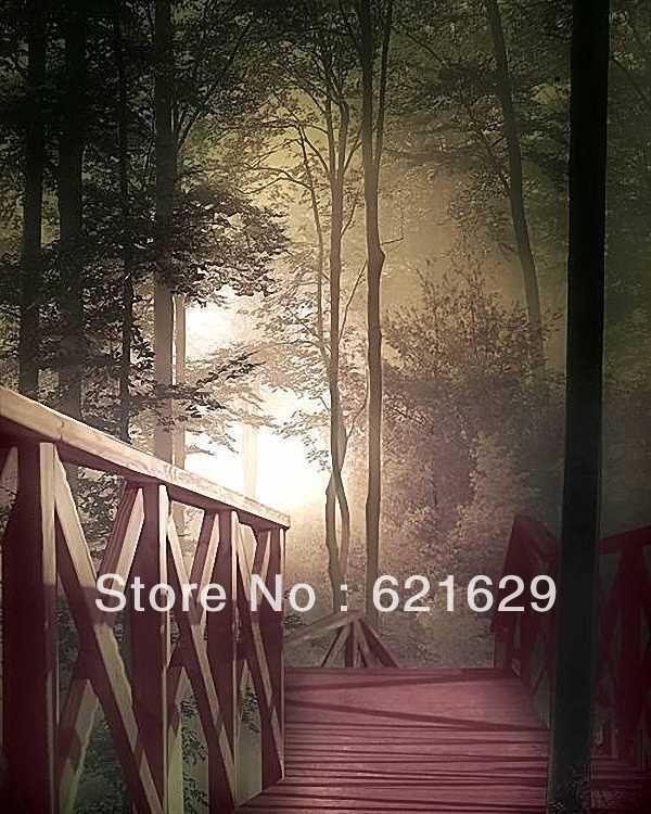 Лесной пейзаж 8'x12 'СР Компьютерная роспись Scenic Фотография Фон Фотостудия Фон DGX-415