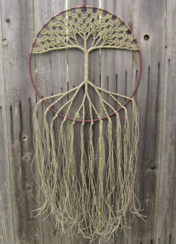 Large Macrame Wall Hanging | Tree of Life Decal | Hippie Tapestry | Bohemian Dreamcatcher | Macrame Wedding | Tree of Life Decor This