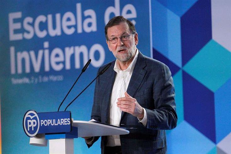 Rajoy avisa de que no va a aceptar ni lecciones ni demagogia del PSOE con las pensiones