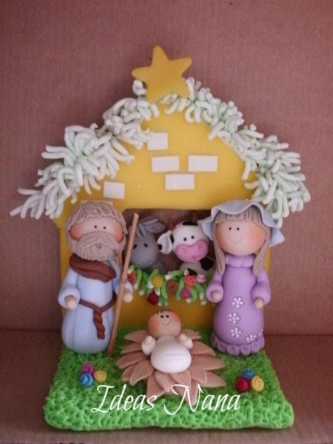 Polymer clay - Nativity