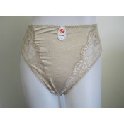 Contemporary Jacquard Hi-Leg Brief - Nude - Up to size 2X-Large