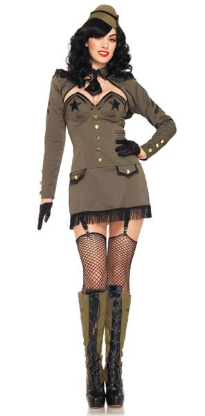 Leg Avenue Costumes 83955 -  5 PC. Pin Up Army Girl Costume $86.95