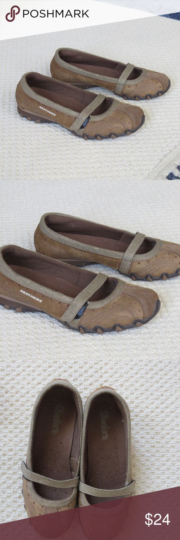 Skechers Mary Jane Flats Shoes Brown Sz 6.5 EUC Skechers Shoes Sz 6.5 Womens Mary Jane Ballet Flat Loafer Brown Leather Excellent Used Condition Skechers Shoes Flats & Loafers