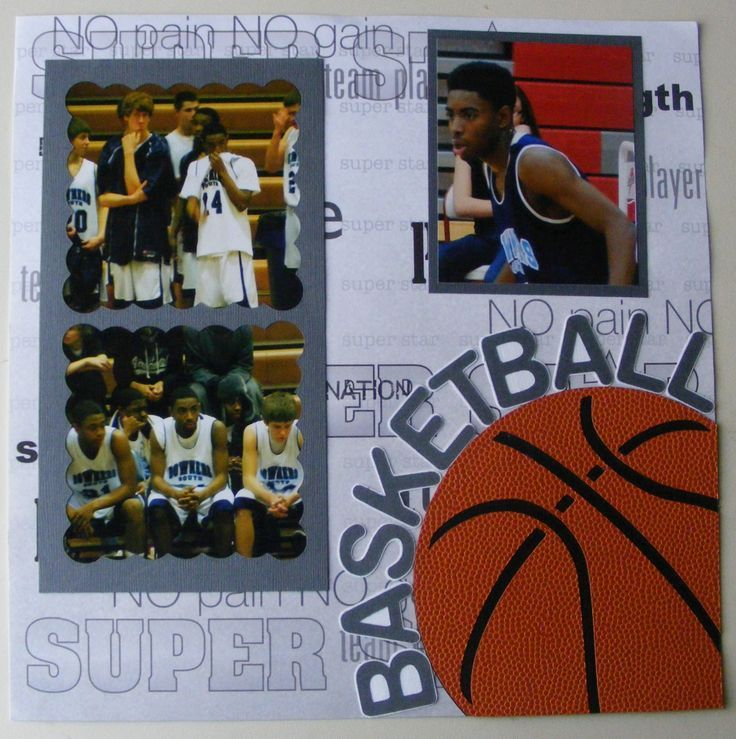 Delightful details basketball scrapbook page school