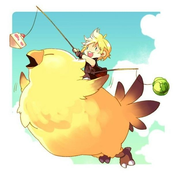 I want to ride my #chocobo all day long! #Prompto #FFXV