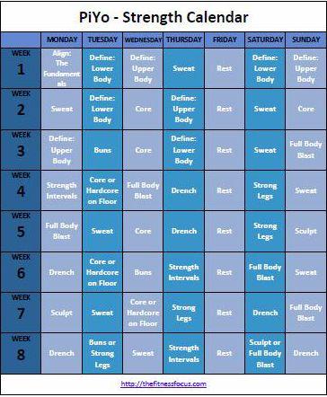 PiYo-Strength-Calendar