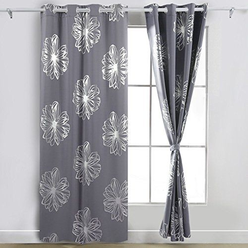 90x90 eyelet curtains grey