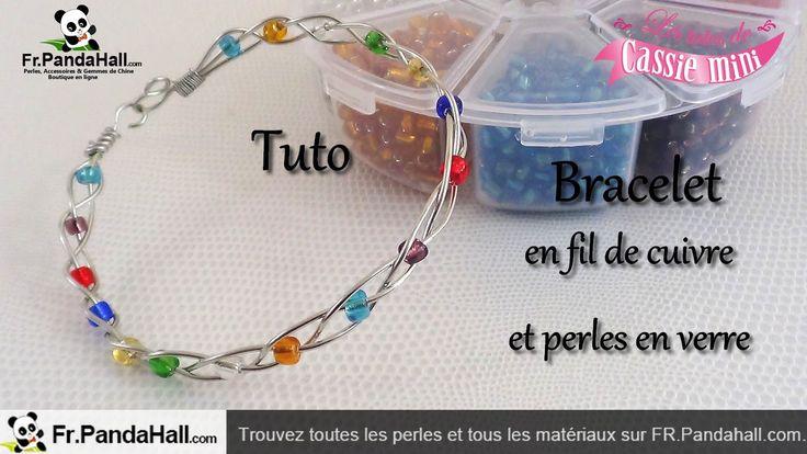 { Tuto } Bracelet en fil de cuivre et perles en verre. Fr.Pandahall.com