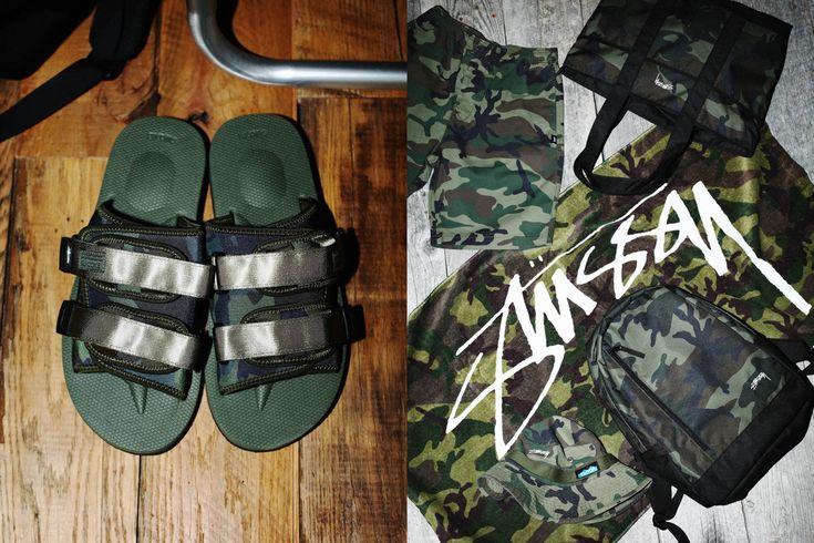 Pensando nos festivais de música alternativa e nas praias, a marca de streetwear americana Stussy aplicou estampa camuflada em acessórios indispensáveis para curtir o verão.  #stussy #streetwearbr