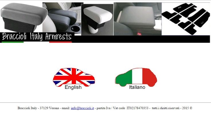 the new website of braccioli.it (it means armrests :-)