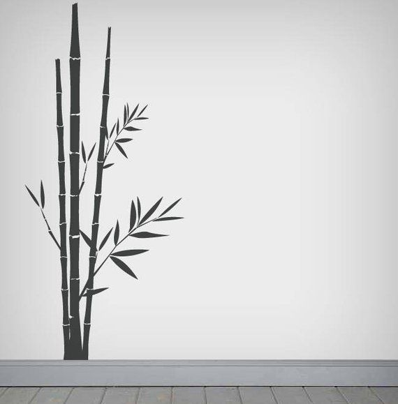 Made in USA Bamboo FLORAL Wall Car Decal Sticker Highest Quality