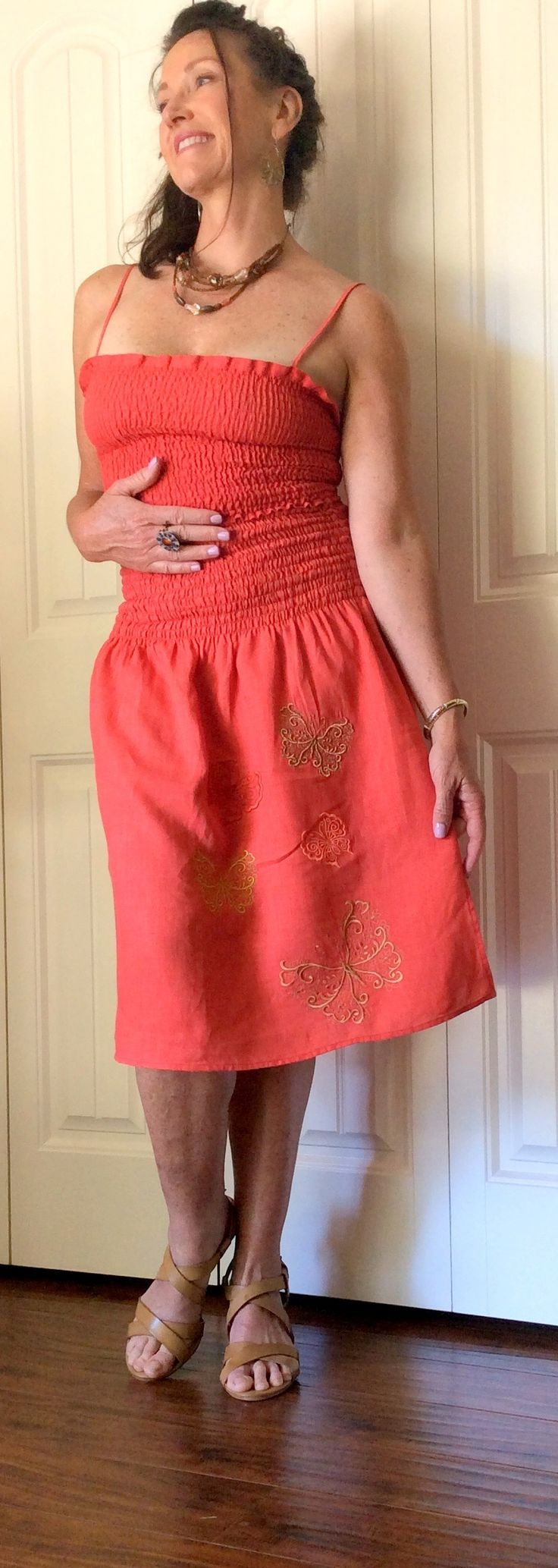 Two-Piece Embroidered Handkerchief Linen Set - Perfect for Vacay! kellkels.com