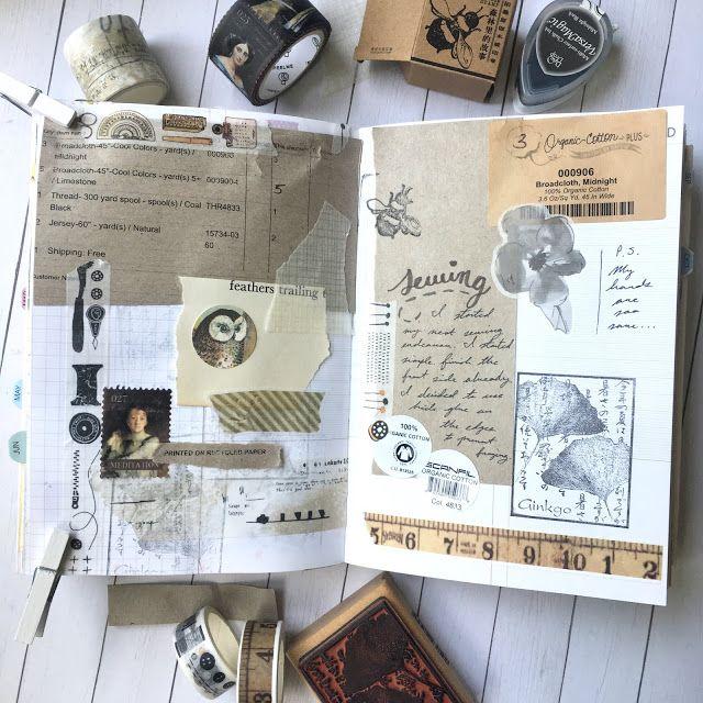 Note 030 June 2019 Journal Highlights Flip Through Vintage Journal Vintage Junk Journal Scrapbook Journal