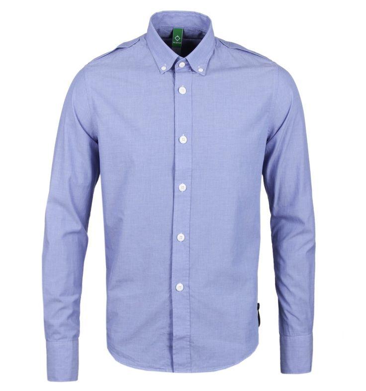 MA.Strum Northern Blue Button Down Shirt
