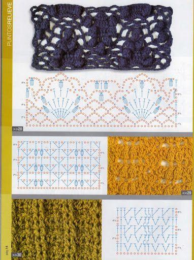 Mejores 50 imágenes de puntos crochet en Pinterest | Patrones de ...
