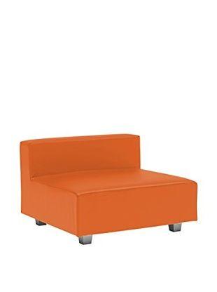 Divano Elemento Centrale Componibile Limbo Arancione