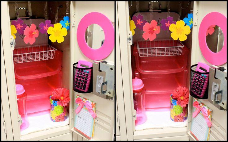 Dollar Store Locker Decoration & Organization DIY