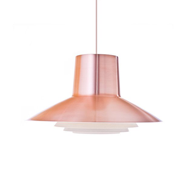 This vintage deco style lamp is a true treasure for anyone who loves the beauty of minimalistic vintage design. The red copper aluminum adds a hint of color to your room, serving as an excellent...