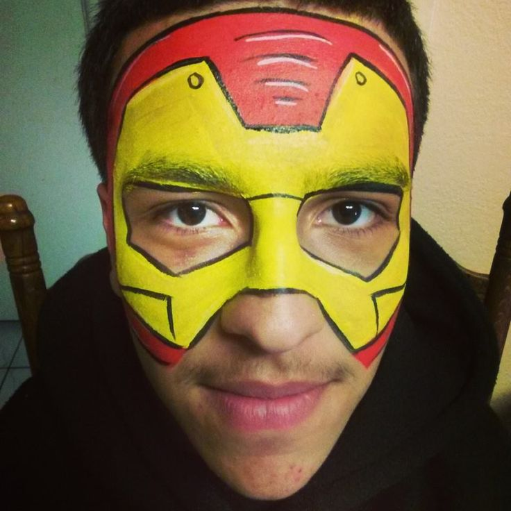 face painting art iron man - Google Search