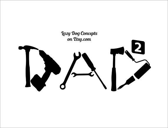 Dad Tool Decal for Car Window Locker Laptop and More Dad Tool vinyl decal. Great for car or truck windows, laptops, lockers, mirrors, and more! Can be applied on any SMOOTH surface. Vinyl colors come in White, Soft Pink, Pink, Yellow, Orange, Mint, Light Blue or Blue. #dad #fathersday #decal #tools #smallbiz