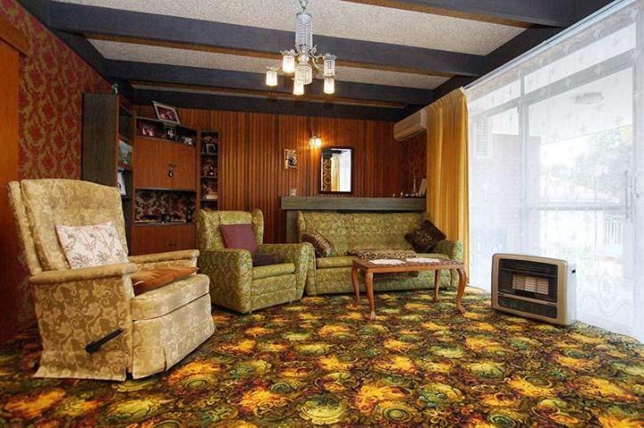 60's home, mid century modern, nana couches, retro bar
