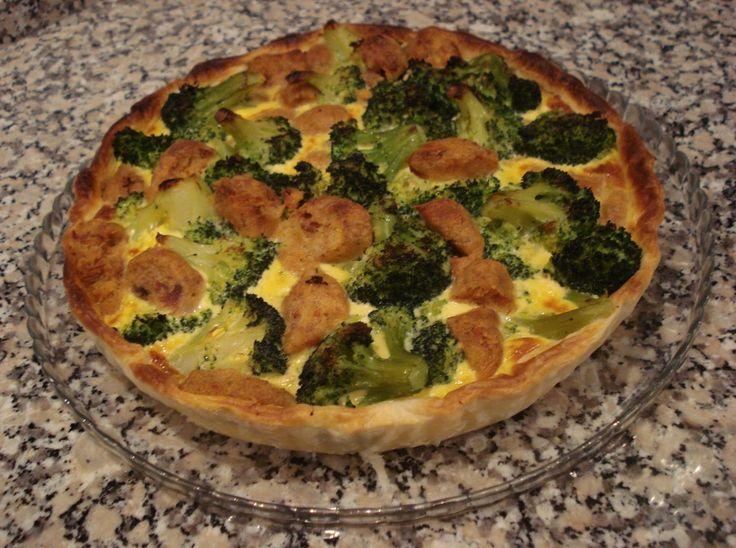 Tarte de Alheira e Brócolos