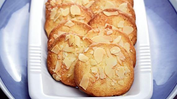 Лимонное печенье с миндалем, пошаговый рецепт с фото