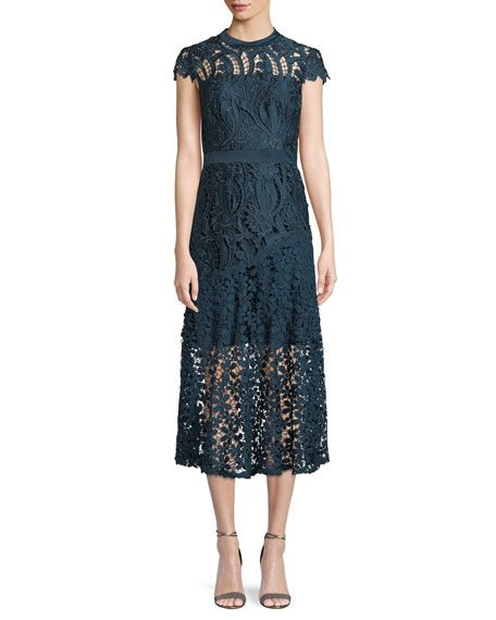 2abc7572a51a Tahari ASL Macie Satin Lace Illusion Midi Dress | ♫CLOTHES I LOVE ...