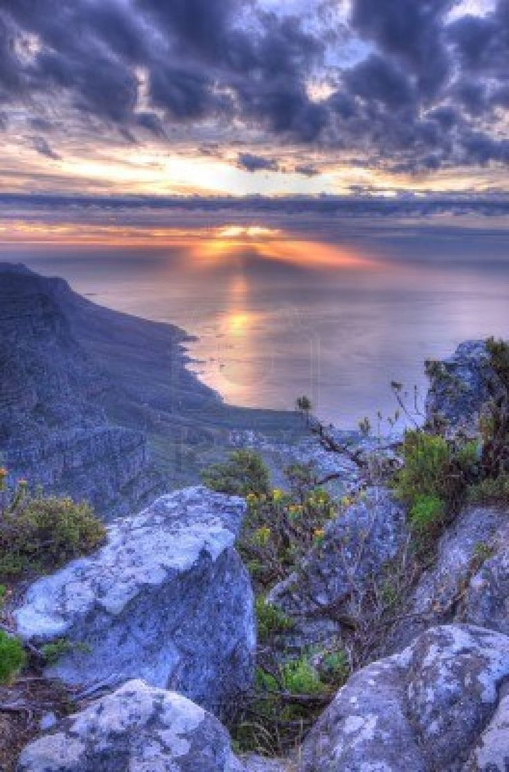 the Twelve Apostles in Cape Town, South Africa . Photo taken f rom the top of Table Mountain