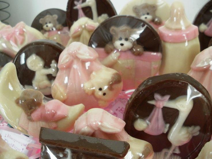 """Chupetines de chocolate de la linea """"Bebes"""" de Palermo Dulce"""