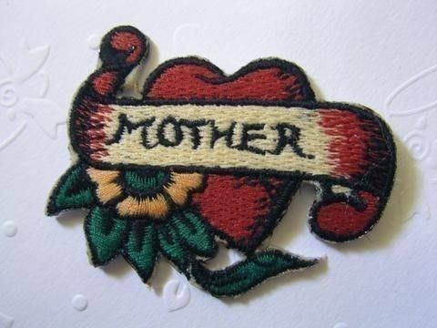 MOTHER Iron On Patch / Applique 60x45mm 2.5x1.75 by WanWanCorner (Craft Supplies & Tools, Scrapbooking Supplies, needle, women, mother, love, sewing, embroidery, applique, red)