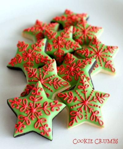 Mini Christmas Star Cookies | Cookie Connection