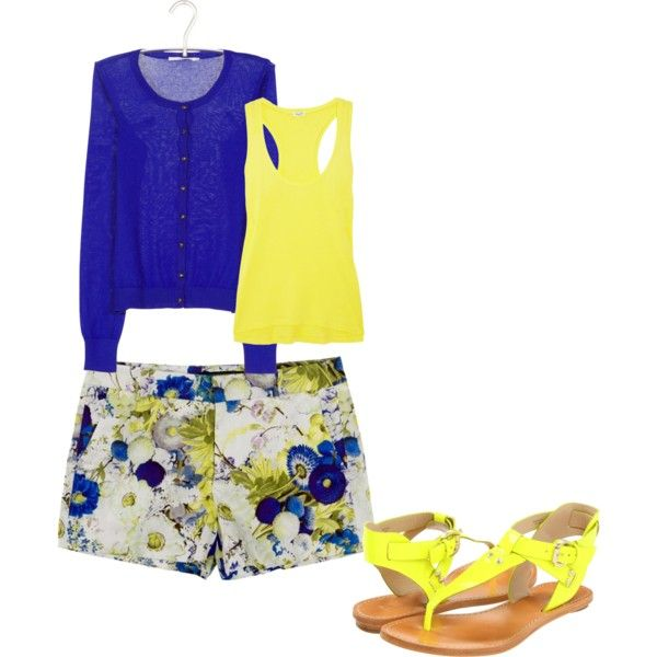 Spring:), created by fluffy1120 on PolyvoreLists Closets, Style Time, Cute Outfits, Clothes'S Shoese Jewelry, Clothes'S Accessories, Fashion Styl, Bright Yellow