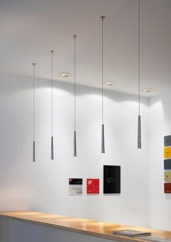 Contemporary Metal Pendant Lamp FLUTE By Peter Steng STENG