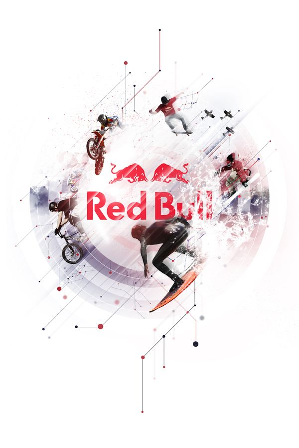 Red Bull - Collective Art Project by Ben Hewitt, via Behance