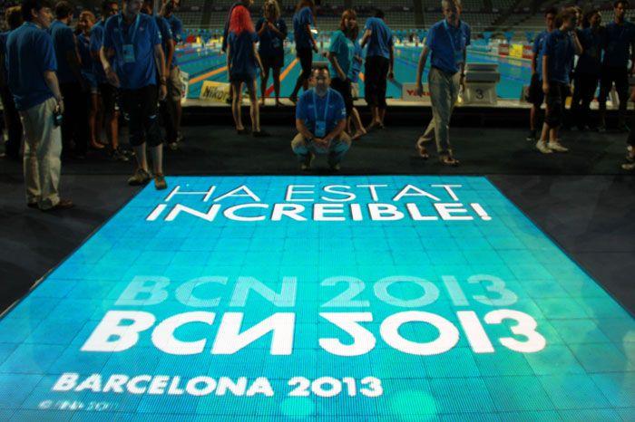 Mundiales de Natación: Barcelona 2013 - 15th FINA World Championships  #Audiovisual #LedFloor #LedWall