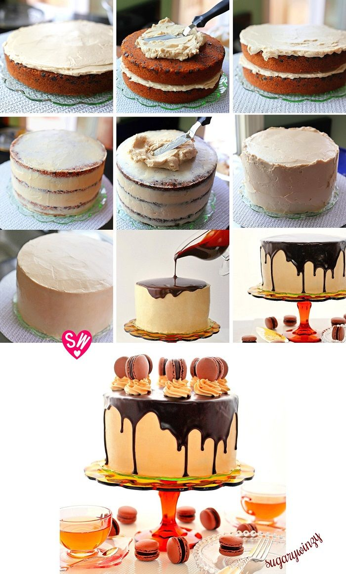 60 best drip cakes images on pinterest anniversary - Banana cake decoration ...