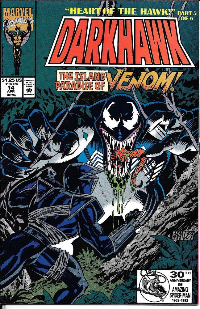 DARKHAWK # 14 NM  MARVEL COMICS 1992  VENOM APP.!!  HIGH GRADE BOOK!!  NM