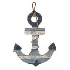 Home Port Wood Anchor Wall Décor, nautical nursery, baby boy room