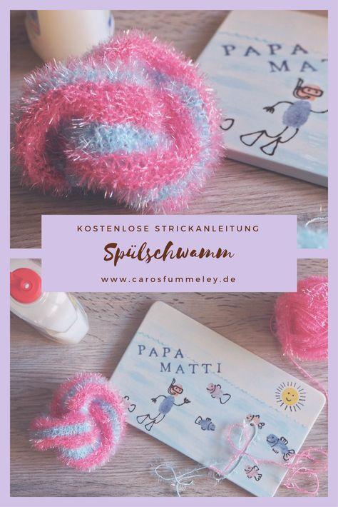 Gestrickter Spülschwamm aus Creative Bubble Garn ...