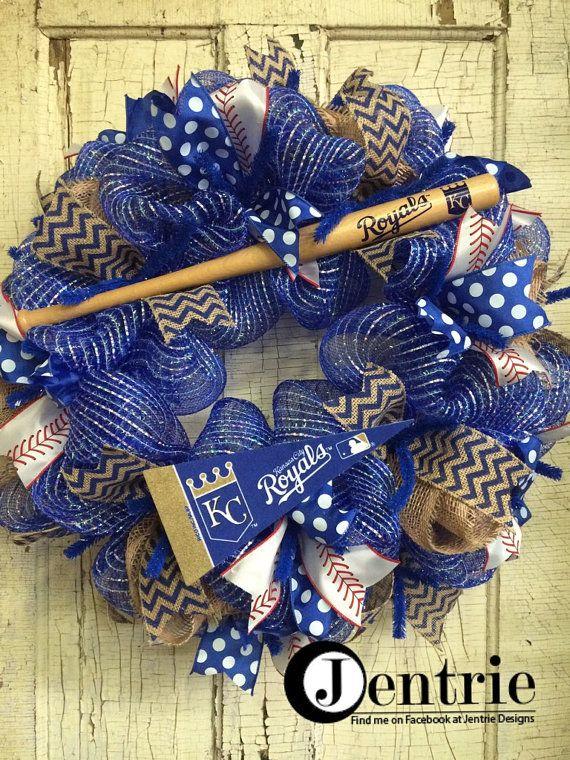 Kansas City Royals Baseball Wreath