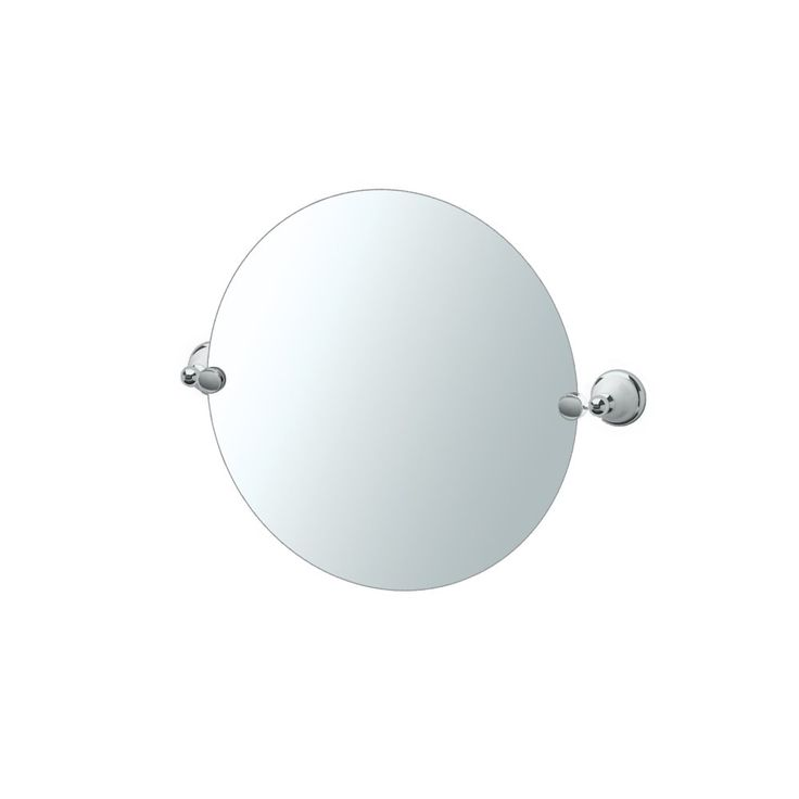 "Franciscan, Frameless Round Mirror, Chrome. Wall mounted design coordinates with other Gatco bath products (sold separately). Pivot mirrors tilt to your desired viewing angle. Base material is premium metal and will provide long lasting durability. Mirror size only 19.5"" x 19.5"". Victorian style. Concealed screw mountings, mounting hardware included. Hand polished chrome finish. Matching towel bars, toilet paper holders and accessories. Manufacturer's limited lifetime warranty."