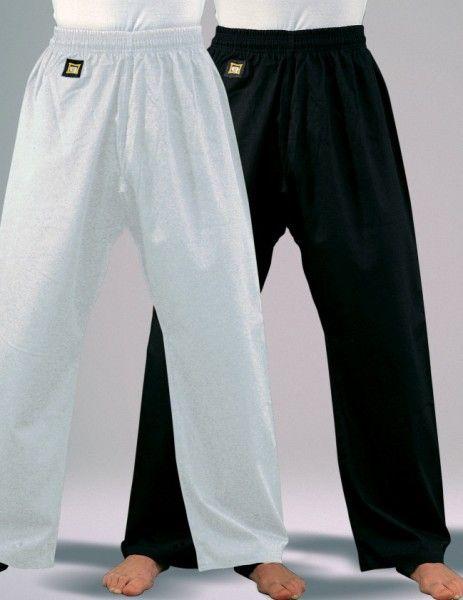 Taekwondo / Karate Hose Baumwolle 8 oz. / weiss und schwarz
