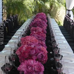Mauve, pink and black wedding