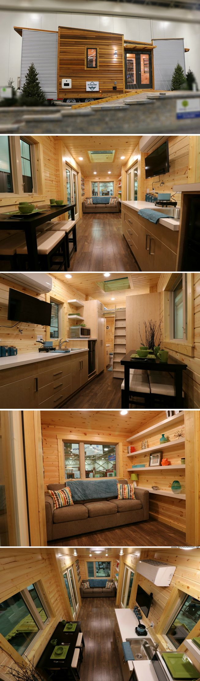 The Dragonfly tiny house from Hillside Getaway