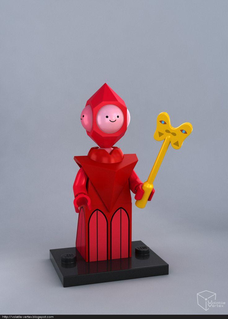 #adventure #time #lego #minifig LEGO Gob, Glob, Grod, Grob minifig, Volatile Vertex on ArtStation at https://www.artstation.com/artwork/nE1W4