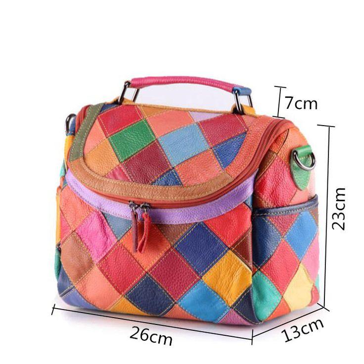 Woemen Hitcolor Hobo Crossbody Bag Valódi bőr válltáska érdemes megvenni - NewChic