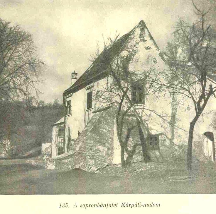 A Kárpáti malom régi képeslapon