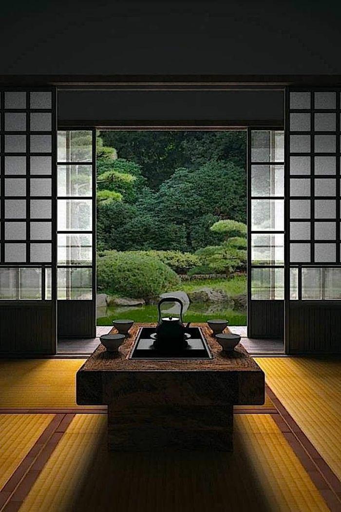 Intérieur Japonais Meubles Japonais Porte Coulissante De Style
