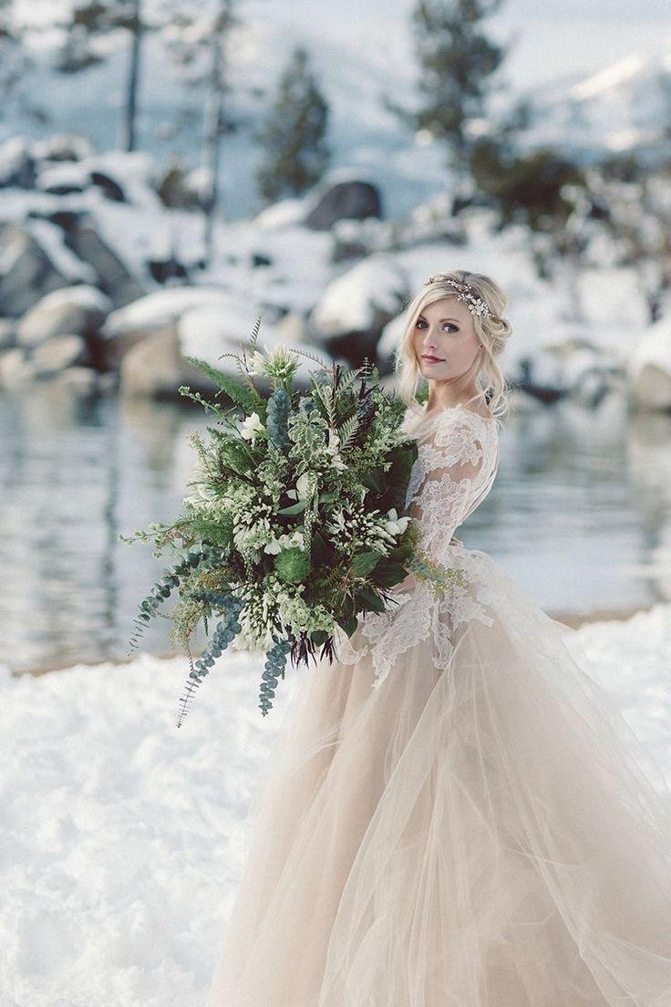 создания свадебное бежевое платье зимой фото есть еще
